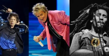 Mick Jagger, Rod Stewart, Bob Marley
