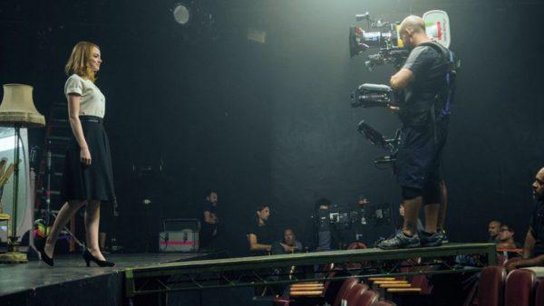 La La Land, Emma Stone na setu