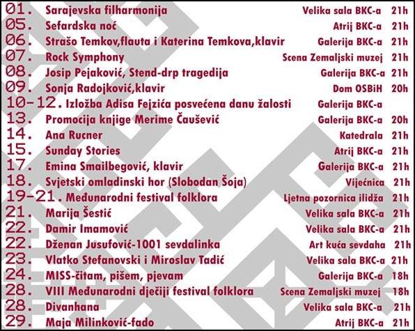 Baščaršijske - program 2017