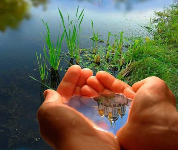voda na dlanu
