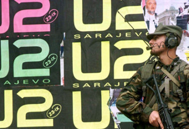U2 Sarajevo, banner