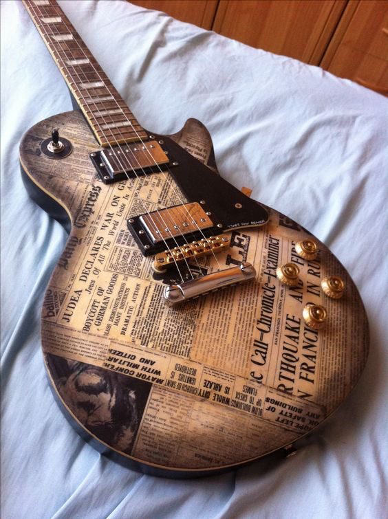 newspapper guitar