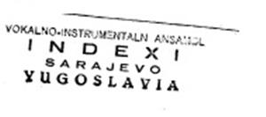 1962, faksimil pečata Indexa