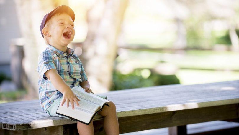 dijete, smijanje